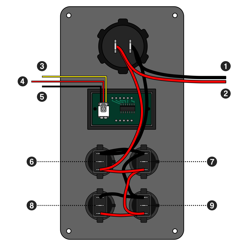 Carbon Switch Panel Wiring Instructions  U2013 Stedi